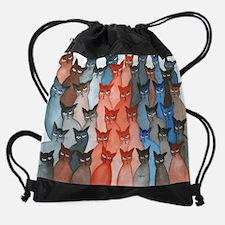 Many Stray Cats Drawstring Bag