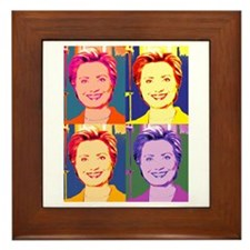 Hillary Clinton Pop Art 4 Framed Tile