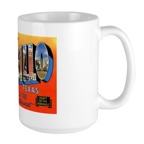 Amarillo Texas Greetings Large Mug