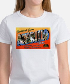 Amarillo Texas Greetings (Front) Women's T-Shirt