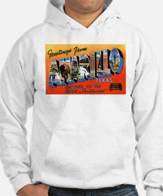 Amarillo Texas Greetings (Front) Hoodie
