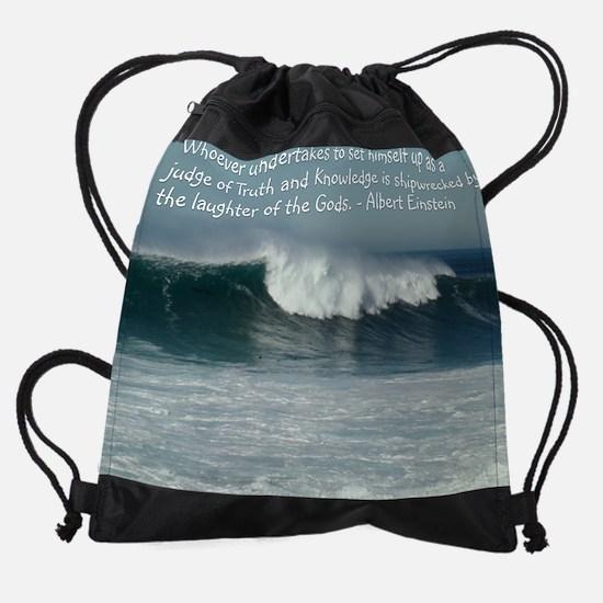 WavesJUDGEPOSTER.jpg Drawstring Bag