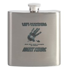 Lefties in their Right Minds Flask
