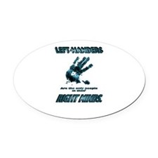 Lefties in their Right Minds Oval Car Magnet