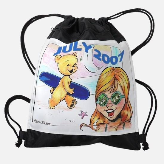 07 july.png Drawstring Bag