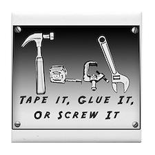 Tile Coaster - Tape it, Glue it, or Screw it!