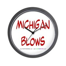 Michigan Blows Wall Clock