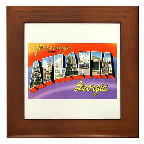 Atlanta Georgia Greetings Framed Tile