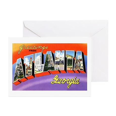 Atlanta Georgia Greetings Greeting Cards (Package