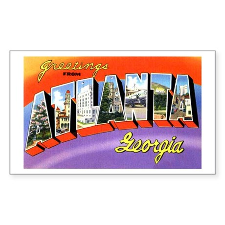 Atlanta Georgia Greetings Rectangle Sticker