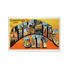 Atlantic City New Jersey Greetings Rectangle Magne
