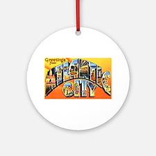 Atlantic City New Jersey Greetings Ornament (Round