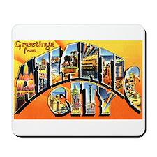 Atlantic City New Jersey Greetings Mousepad