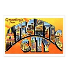 Atlantic City New Jersey Greetings Postcards (Pack