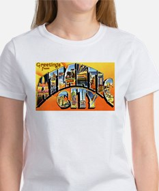 Atlantic City New Jersey Greetings (Front) Tee
