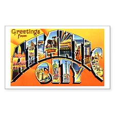 Atlantic City New Jersey Greetings Decal