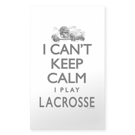 Can't Keep Calm LaX Sticker (Rectangle)