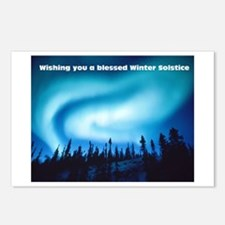 Yule/ Winter Solstice Holiday Postcards (8)