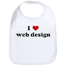 I Love web design Bib