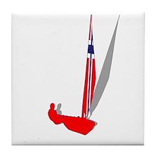 Norwegian Sailing Tile Coaster