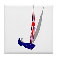 New Zealand Sailing Tile Coaster