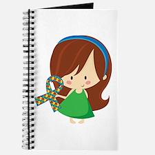 Autism Awareness Girl Journal