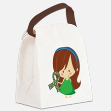 Autism Awareness Girl Canvas Lunch Bag