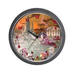 Garden of Alcyone Wall Clock