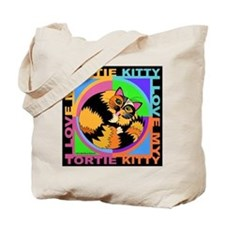 Tortie Kitty Cat Graphics Tote Bag