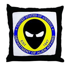 Department of Alien Affairs Throw Pillow