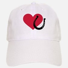 Horseshoe red heart Baseball Baseball Cap