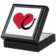 Horseshoe red heart Keepsake Box