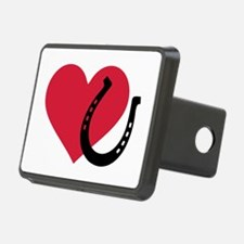 Horseshoe red heart Hitch Cover