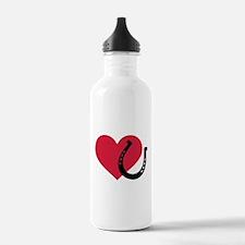 Horseshoe red heart Water Bottle