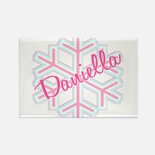 Daniella Snowflake Personalized Rectangle Magnet