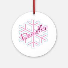 Daniella Snowflake Personalized Ornament (Round)