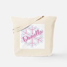 Daniella Snowflake Personalized Tote Bag