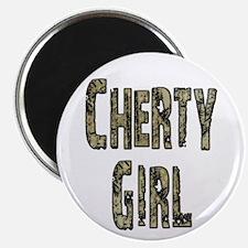 Cherty Girl Shovel Bum Magnet