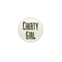 Cherty Girl Shovel Bum Mini Button (10 pack)