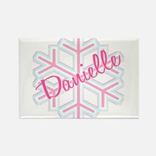 Danielle Snowflake Personalized Rectangle Magnet