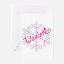Danielle Snowflake Personalized Greeting Cards (Pa