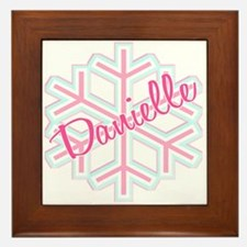 Danielle Snowflake Personalized Framed Tile