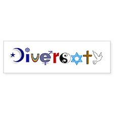 Diversity Bumper Car Sticker