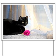 Kitty and Flower Yard Sign