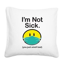Smell Bad Square Canvas Pillow