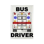 Bus Driver Rectangle Magnet (10 pack)