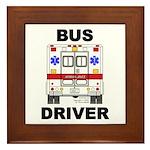 Bus Driver Framed Tile