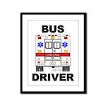 Bus Driver Framed Panel Print
