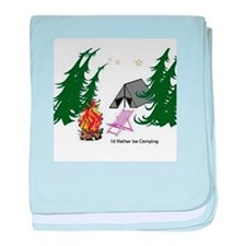 I'd Rather be Camping baby blanket