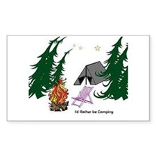 I'd Rather be Camping Decal
